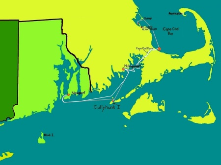 capecod sailing map