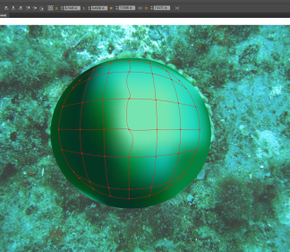 coral sphere with mesh tool modeling
