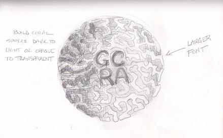 Lettering on 3D Globe