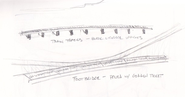 Train Tracks and Footbridge study