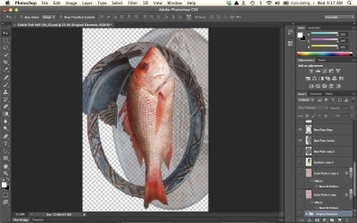 Cubism fish element
