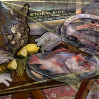 Cubist Fish Still Life_PRINT_Lightened