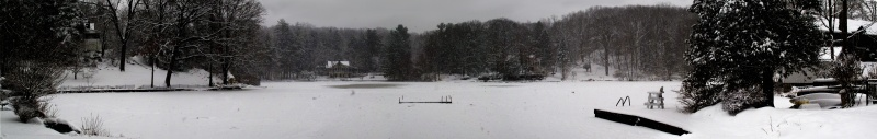 Lake Woodrock Snow Panorama