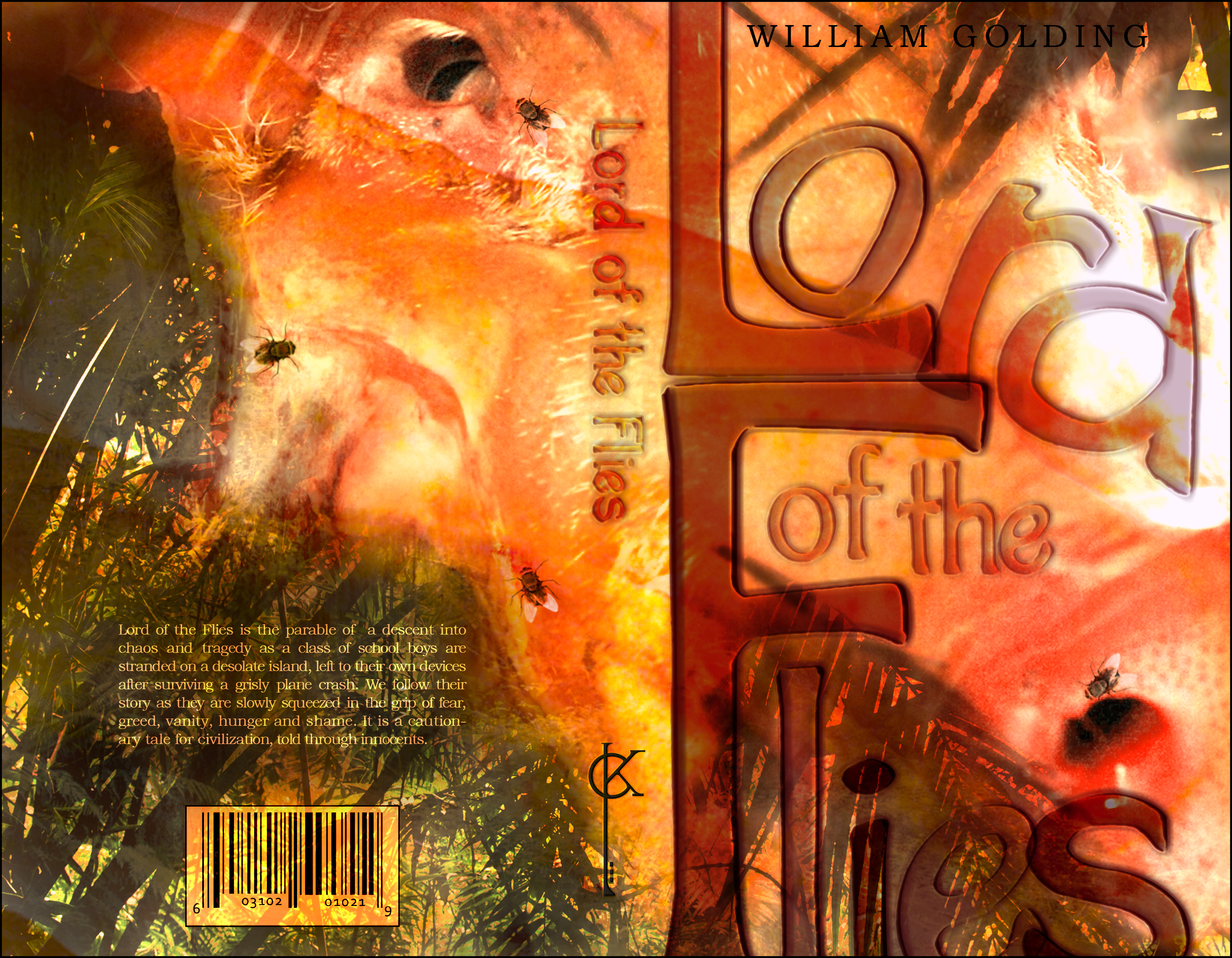 dystopian novel cover kathink lord of the flies beginnings of text wrap