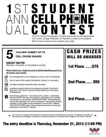 Cell phone contest flyer