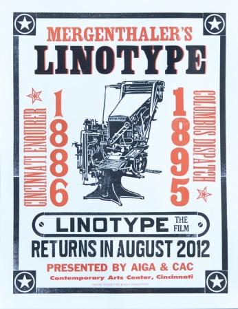 Linotype screening poster